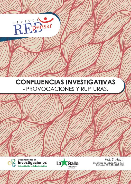 Portada REDpensar. Vol.3.No.1. Diciembre 2014.
